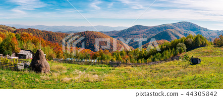 beautiful rural countryside of Romania 44305842