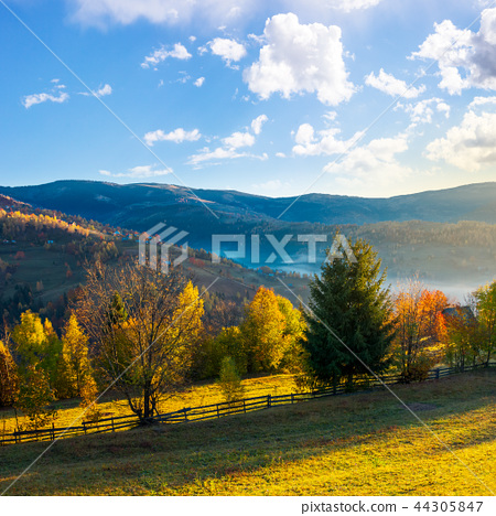 beautiful rural area in mountains 44305847
