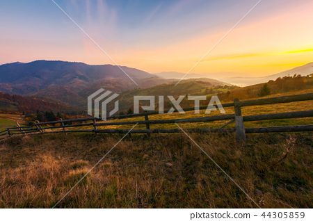 wonderful countryside scenery in autumn 44305859