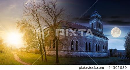 abandoned catholic church on hill 44305880