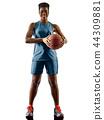 Basketball players woman teenager girl isolated shadows 44309881