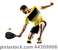 Padel tennis player man isolated white background 44309906