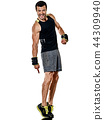 fitness man cardio boxing exercises isolated 44309940