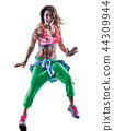 woman cardio dancers dancing fitness exercising excercises isolated 44309944