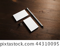 Business cards, pencil 44310095