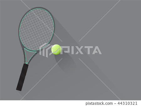 Tennis Racket and Tennis Ball Background  44310321