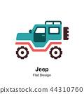Jeep Flat Icon 44310760