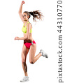 Young girl runner isolated 44310770