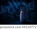 Elf girl in night forest version 44310772