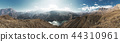 Panorama Landscape of a mountain lake among the mountains of the Caucasus 44310961