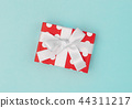 Gift box decoration red white blue background 44311217
