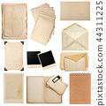 Old paper sheets Vintage photo album book page 44311225