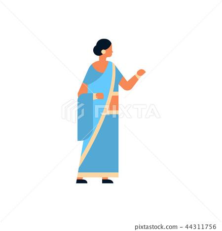 Indian Woman Wearing National Traditional Stock Illustration 44311756 Pixta
