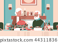 happy thanksgiving elderly couple sitting table celebrating thanks day holiday traditional turkey 44311836