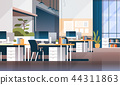 Modern workplace cabinet room office interior empty nobody coworking space flat horizontal 44311863