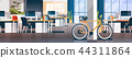creative office coworking center room interior modern workplace desk bicycle ecological transport 44311864