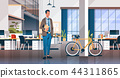 businessman holding laptop creative office coworking center room interior modern workplace desk 44311865
