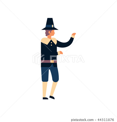 native american man thanksgiving day concept guy wearing traditional clothes male cartoon character 44311876