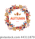 happy thanksgiving day autumn traditional harvest holiday greeting card isolated flat 44311879