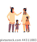 indian family thanksgiving day celebrating concept parents children communication cartoon character 44311883