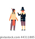 indian native american men thanksgiving day celebrating concept two guys wearing traditional clothes 44311885
