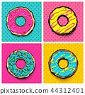 Doughnut donut cartoon pop art 44312401
