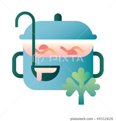 Soup gradient illustration 44312626
