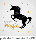 Unicorns Horse Cute Dream Fantasy Cartoon Vector 44315899