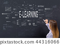 E-Learning with young woman 44316066