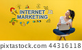 Internet marketing with woman using a laptop 44316118