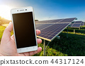smartphone blurred images in the solar panel 44317124