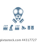 gas mask with pollution vector background 44317727