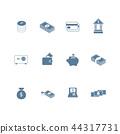 set of money icon flat design 44317731
