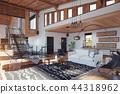 modern chalet interior. 44318962