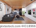 modern cottage  interior. 44318966