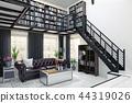 home library interior design. 44319026