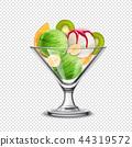 Fruity Icecream Transparent Composition 44319572