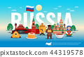 Russia Travel Flat Composition  44319578