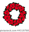 Red Poinsettia Wreath 44319768