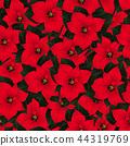 Red Poinsettia Seamless Christmas Background. 44319769