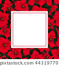 Red Poinsettia Christmas Banner Card 44319770