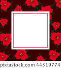 Red Poinsettia on Red Banner Card 44319774