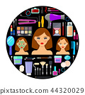 tools for makeup and beauty on black background 44320029