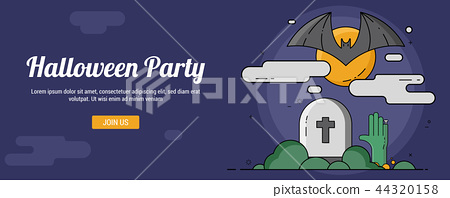 Halloween party banner template 44320158