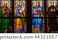 Religious stained glass window, Prague, Czech Rep  44321057