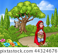 Little Red Riding Hood Fairy Tale Scene 44324676