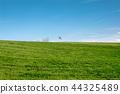 겨울 골프장 백기가 보이는 언덕에 그린 44325489