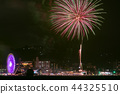 夜景 焰火表演 烟火表演 44325510