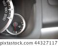 close up image of a car's fuel gauge meter. fuel  44327117