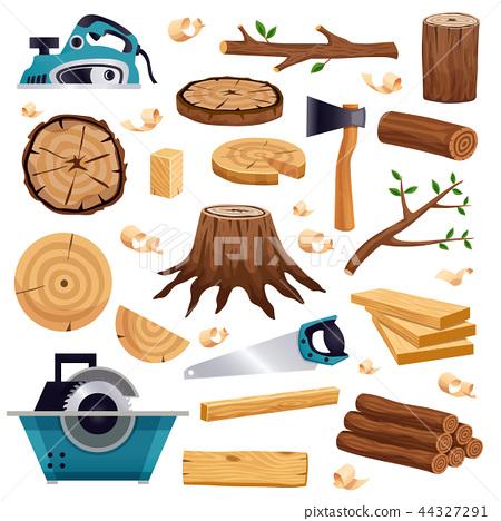 Wood Industry Flat Set 44327291